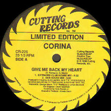 CORINA - Give Me Back My Heart (Limited Edition House Mixes) - Cutting
