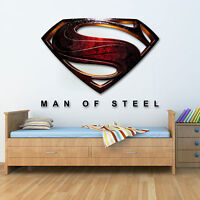 Wall Graphic Man Of Steel Superman Printed Vinyl Sticker Wall Art Various Sizes