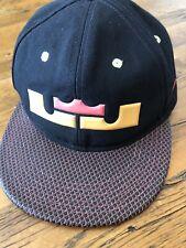 1c3579e8341fa Nike True Lebron James King Crown Flat Brim Hat Cap Multicolor Snapback One  Size