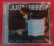 MY WORLDS ACOUSTIC by JUSTIN BIEBER (CD, 2010 - USA - Island) BRAND NEW, SEALED!