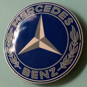 MERCEDES BENZ Stuttgart Tür- Emailschild MAKELLOS Auto Daimler Klassischer STERN