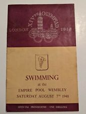More details for programme olympic games rare swim london wembley pool 1948 swimming 07/8/48