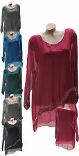 Markenlose Damenblusen, - tops & -shirts aus Seide
