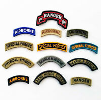 Army Airborne, Ranger, Special Forces & Military Support Scroll Unit Patches