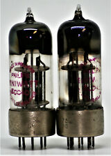 ECC40 TUBE PHILIPS MATCHED PAIR PREAMP TUBES METAL BASE BLACK 6SN7 B65 VT231 2A3