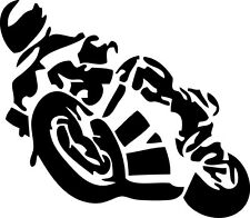 Aufkleber Sticker Wandtattoo Autoaufkleber Motorradfahrer schwarz matt 100x87 mm