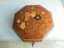 Schöne große Spieluhr Spieldose Musikschatule Schmuckkästchen Holzintarsien Box