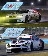Decals BMW M6 GT LM Daytona 2017 19 24 1:32 1:24 1:43 1:18 art car slot calcas