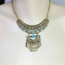Turquoise Silver Plated Bib Fashion Necklaces & Pendants