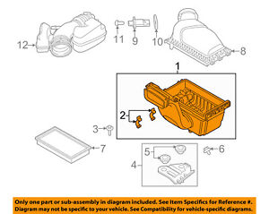 FORD OEM Air Cleaner Box-Bottom Lower Housing Body AA5Z9A600B