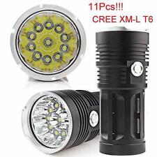 SKYRAY 28000LM 11 x CREE XM-L T6 LED Jagd-Taschenlampe 4 x 18650 Lampen-Fackel