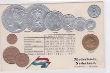 NEDERLAND  EARLY EMBOSSED COIN CARD