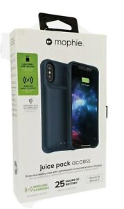 Mophie Juice Pack Access Battery Charger Case Matte Blue iPhone X/XS 2,000mAh