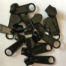 5/10pc 5# Black Instant Zipper Repair Kit Metal Spiral Zip Slider Replacement US