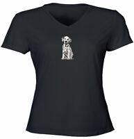 Juniors Girls Women Teen Tee T-Shirt Gift Print Cute Puppy Dalmatian doggy