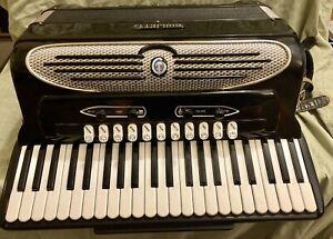 Vintage Accordion Professional Gielietti Continental Classic 127 Italian Italy