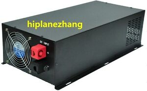Pure Sine Wave 4000W Power Inverter Converter DC 24V to AC 110V or 220V