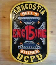 Fire Department DC Anacostia Engine 15 3D routed wood patch sign plaque Custom