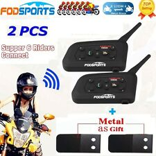 BT Motorbike Intercom 1200m Bluetooth Motorcycle Helmet Headsets interphone x2
