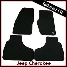 Jeep Cherokee KJ 2002 - 2008 Fully Tailored Fitted Carpet Car Mats BLACK