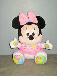 L'APPRENTISSAGE DOUCE - Jouet educatif-Peluche MINNIE/Mickey - CLEMENTONI Disney