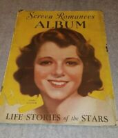 Vintage Screen Romance Album Magazine 1930 Janet Gaynor on cover