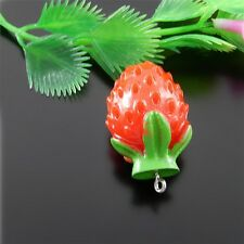 New 10pc Resin Strawberry  flatback For DIY phone/wedding/craft 51569 36*22*22mm