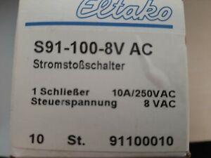 10 x Eltako Schaltrelaise S91 100 8V  AC