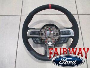 18 thru 19 Mustang OEM Ford Alcantara Suede Steering Wheel Shelby GT350R RED