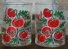 Pair of Bloody Mary Glasses With Tomatoes Old Fashion Rocks Barware Culver Ltd