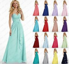 Long Chiffon Wedding Formal Evening Ball Gown Party Prom Bridesmaid Dresses 6-24