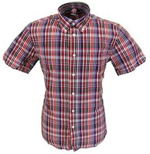 Warrior Multi Checked Retro Button Down Short Sleeve Shirt