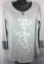 Cacique Lane Bryant Grey Soft Comfortable Long Sleeve Plus Size Sleep Top Shirt