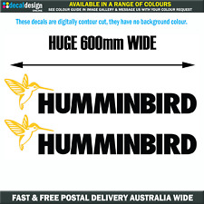 HUMMINBIRD Stickers x2 60cm Wide Boat Tinnie Fishing Trailer 4x4 decals #H001