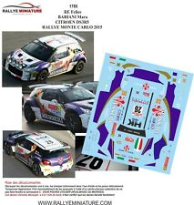 DECALS 1/43 REF 1785 CITROEN DS3 R5 FELICE RE RALLYE MONTE CARLO 2015 WRC RALLY