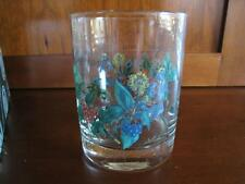 1 PORTMEIRION Holly & Ivy 14 oz DBL OLD FASHION GLASS 6.25 in. Winter Christmas