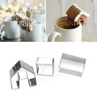 Decor Cookie Cutter Christmas Gingerbread House Biscuit Mold Steel Creative I3D0