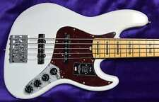 Fender American Ultra Jazz Bass V (5-String), Arctic Pearl with Maple Board