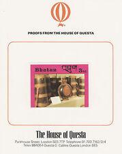 Bhutan 2645 - 1988 HANDICRAFTS & ANTIQUES 3nu on HOUSE OF QUESTA PROOF  CARD