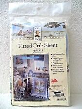 New listing Classic Winnie The Pooh & His Friends Crib/Toddler Fitted Sheet Blue Vtg. New