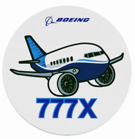 NEW Boeing 777X Pudgy Sticker, UPC# 580080110105