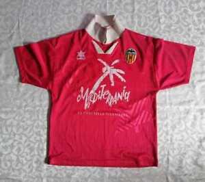 VALENCIA FC 1993/1994 AWAY FOOTBALL SHIRT CAMISETA #11 IUANVI MEDITERRANIA RARE