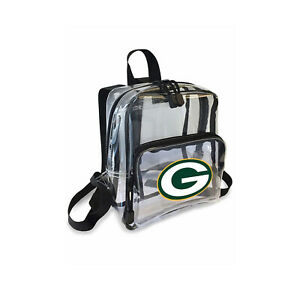 """Football Green Bay Packers Mini Clear Stadium Backpack 10"""" x 3"""" x 8"""" Licensed"""