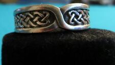 CELTIC KNOT RING BAND STYLE SIZE 10 CELTIC/PAGAN/WICCA/NORSE UNISEX HANDFASTING
