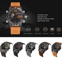NAVIFORCE NF9095M Men Digital Quartz Watch LED Dual Movt Calendar Wristwatch3ATM