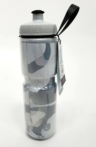 Polar 24 oz Sport Insulated Triple Wall Cycling Water Bottle Contender White