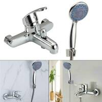 Modern Chrome Bathroom Taps Bath Filler Shower Mixer Tap with Shower Hand Held