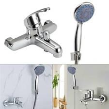 Modern Chrome Bathroom Taps Bath Filler Shower Mixer Tap with Shower Hand Held