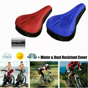 Cushioned Road Bike Seat Cover Soft Padded Gel Bicycle Cycle Saddle Cushion