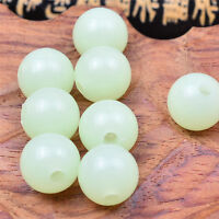 Lots 100Pcs Round Luminous Bead Beads Jewelry Pendant DIY Making Craft 6/8/10mm